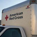 american red cross truck dirty