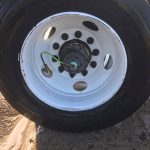 up close view of clean truck tire by fleet cleaner in grand rapids mi