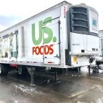 mobile fleet washing service by fleet cleaner washed this us foods semi trailer